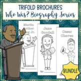 Who Was Biography Series Trifold Brochures Bundle - Distance Learning