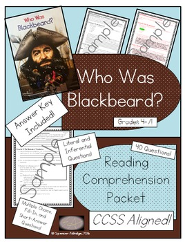Who Was Blackbeard? - Reading Comprehension Packet