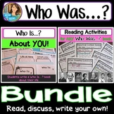 Who Was? Biography Series Bundle! Activities for ANY Book & Who Is? About You!