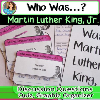 Who Was Martin Luther King Jr? Biography Series Novel Unit