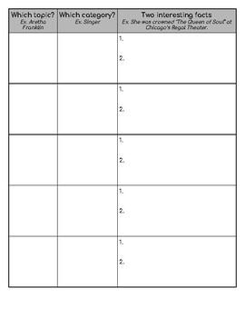 Who Was Books Series Bingo Challenge