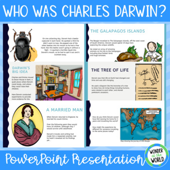 Who Was Charles Darwin? PowerPoint Presentation, Natural Selection, Scientists