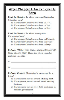Who Was Christopher Columbus? (Bonnie Bader) Book Study / Comprehension (27 pgs)