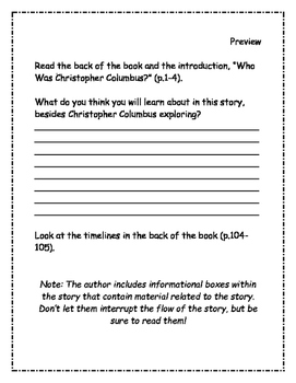 Who Was Christopher Columbus? Comprehension Packet