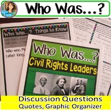 Who Was? Biography Series Civil Rights Leaders Book Club Activities