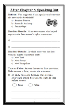 Who Was Clara Barton? (Stephanie Spinner) Book Study / Comprehension  (31 pages)
