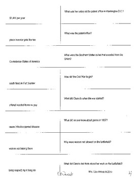 Who Was Clara Barton question resources