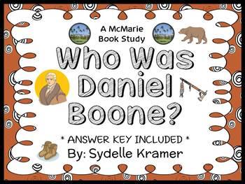 Who Was Daniel Boone? (Sydelle Kramer) Book Study / Comprehension  (32 pages)