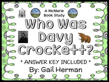 Who Was Davy Crockett? (Gail Herman) Book Study / Comprehension  (32 pages)