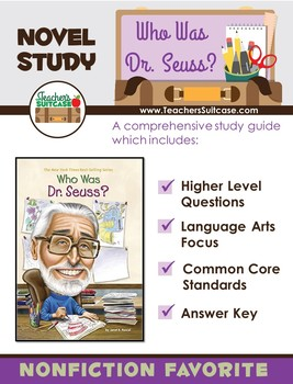 Who Was Dr. Seuss? {Ted Seuss Geisel Biography Novel Study}
