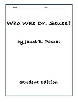Who Was Dr. Suess Comprehension Questions