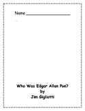 Who Was Edgar Allan Poe? Comprehension Packet