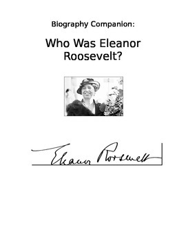 Who Was Eleanor Roosevelt? Study Guide