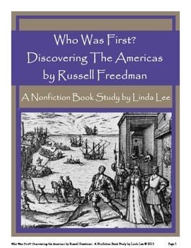 Who Was First? by Russell Freedman:  A Nonfiction Book Study