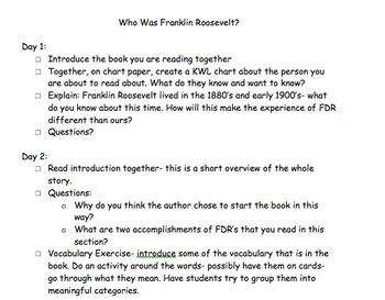 Who Was Franklin Roosevelt Reading Group