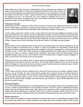 Who Was Galileo Galilei? - Reading Comprehension