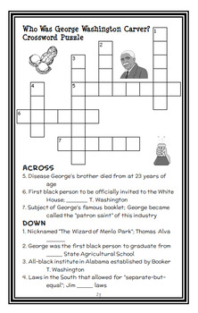 Who Was George Washington Carver? (Jim Gigliotti) Book Study   (23 pages)