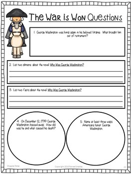 Who Was George Washington? {Presidents' Day Novel Study}
