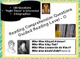 """Who Was?"" 4 Biographies; reading level O; nonfiction comp questions; Bundle"