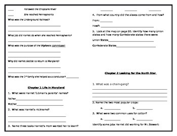 Who Was Harriet Tubman? Activity Booklet