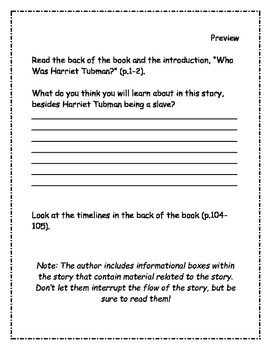 Who Was Harriet Tubman? Comprehension Packet