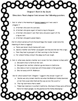 Who Was Jackie Robinson? Comprehension Packet