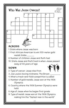 Who Was Jesse Owens? (James Buckley Jr.) Book Study / Comprehension (27 pages)