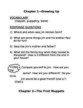 Who Was Jim Henson Study Guide