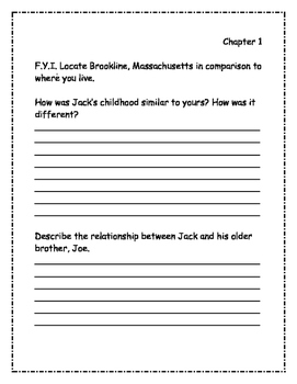 Who Was John F. Kennedy? Comprehension Packet