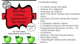 Who Was Johnny Appleseed? Bio Bundle