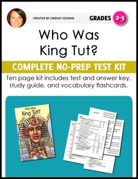 Who Was King Tut? NO-PREP Unit Test Kit