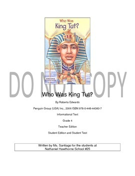 Who Was King Tut? Roberta Edwards Unit Plan