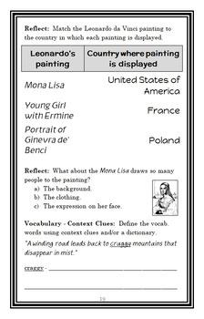 Who Was Leonardo da Vinci? (Roberta Edwards) Book Study / Comprehension (25 pgs)