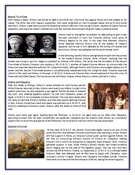 Who Was Mark Antony? -  Reading Comprehension / Informational Text