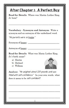 Who Was Martin Luther King, Jr.? (Bonnie Bader) Book Study / Comprehension