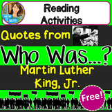 Who Was Martin Luther King, Jr.? Biography Series Freebie