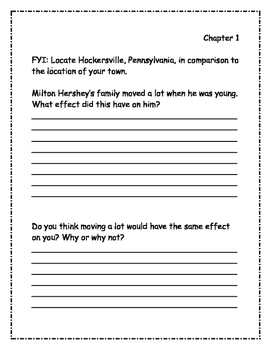 Who Was Milton Hershey? Comprehension Packet