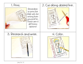 Who Was Mother Teresa? - a MESS FREE Research Flipbook!