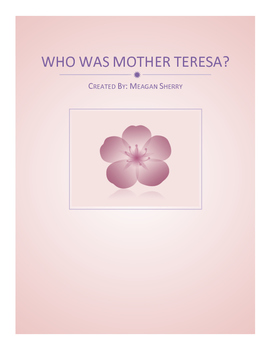 Who Was Mother Teresa Activity Packet