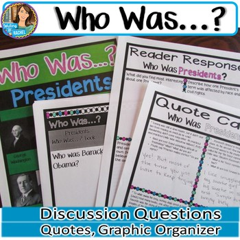 Who Was...? Presidents: Book Club Activities