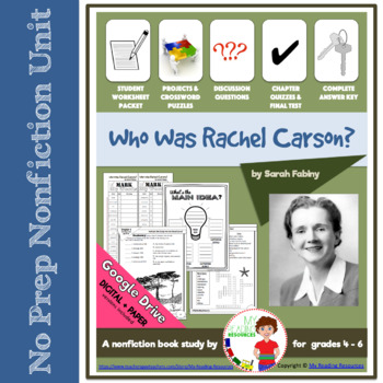 Who Was Rachel Carson? by Sarah Fabiny Nonfiction Book Study