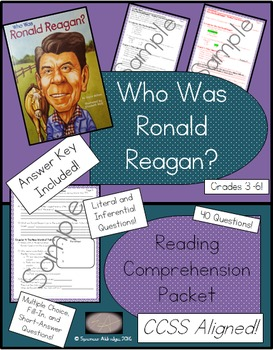 Who Was Ronald Reagan? - Reading Comprehension Packet