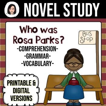 Who Was Rosa Parks? NO-PREP Novel Study