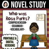 Who Was Rosa Parks? NO-PREP Novel Study