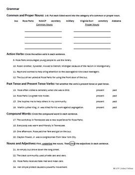 Who Was Rosa Parks? NO-PREP Unit Test Kit