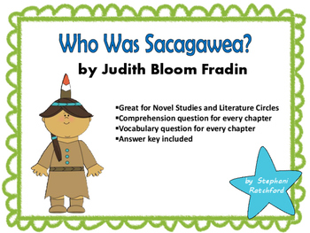 Who Was Sacagawea? by Fradin Comprehension and Vocabulary Task Cards