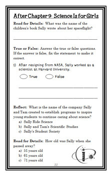 Who Was Sally Ride? (Megan Stine) Book Study / Comprehension  (28 pages)