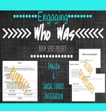 Editable Who Was Series Novel Study (Group Project): Infor