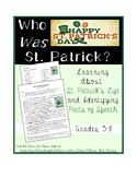 St. Patrick Grammar Practice: Parts of Speech (2 Pages, An