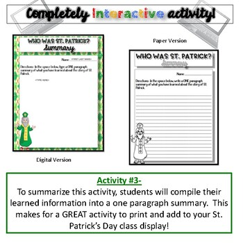 Who Was St. Patrick?  {Digital AND Paper}